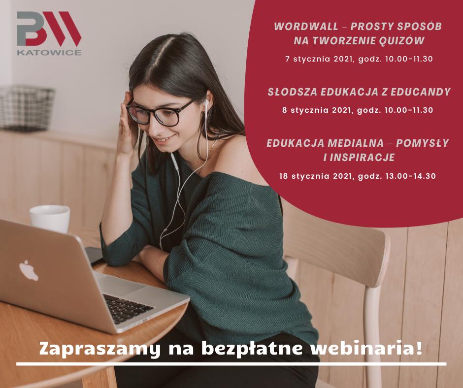 webinaria zzakresu TIK - plakat informacyjny