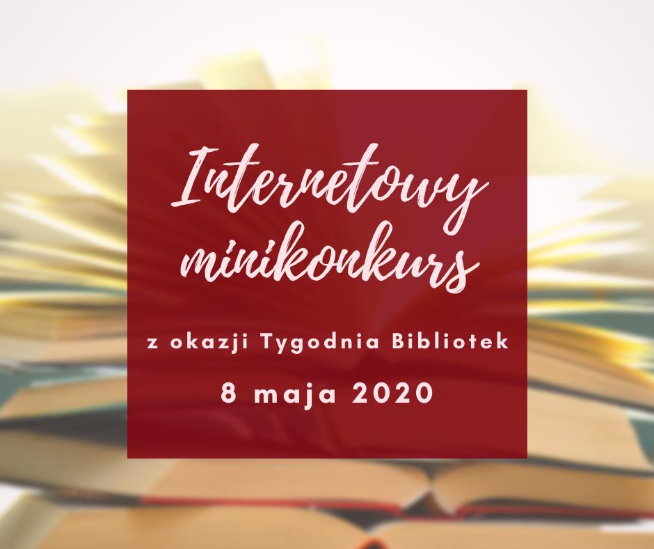 konkurs zokazji Tygodnia Bibliotek 2020 - ilustracja