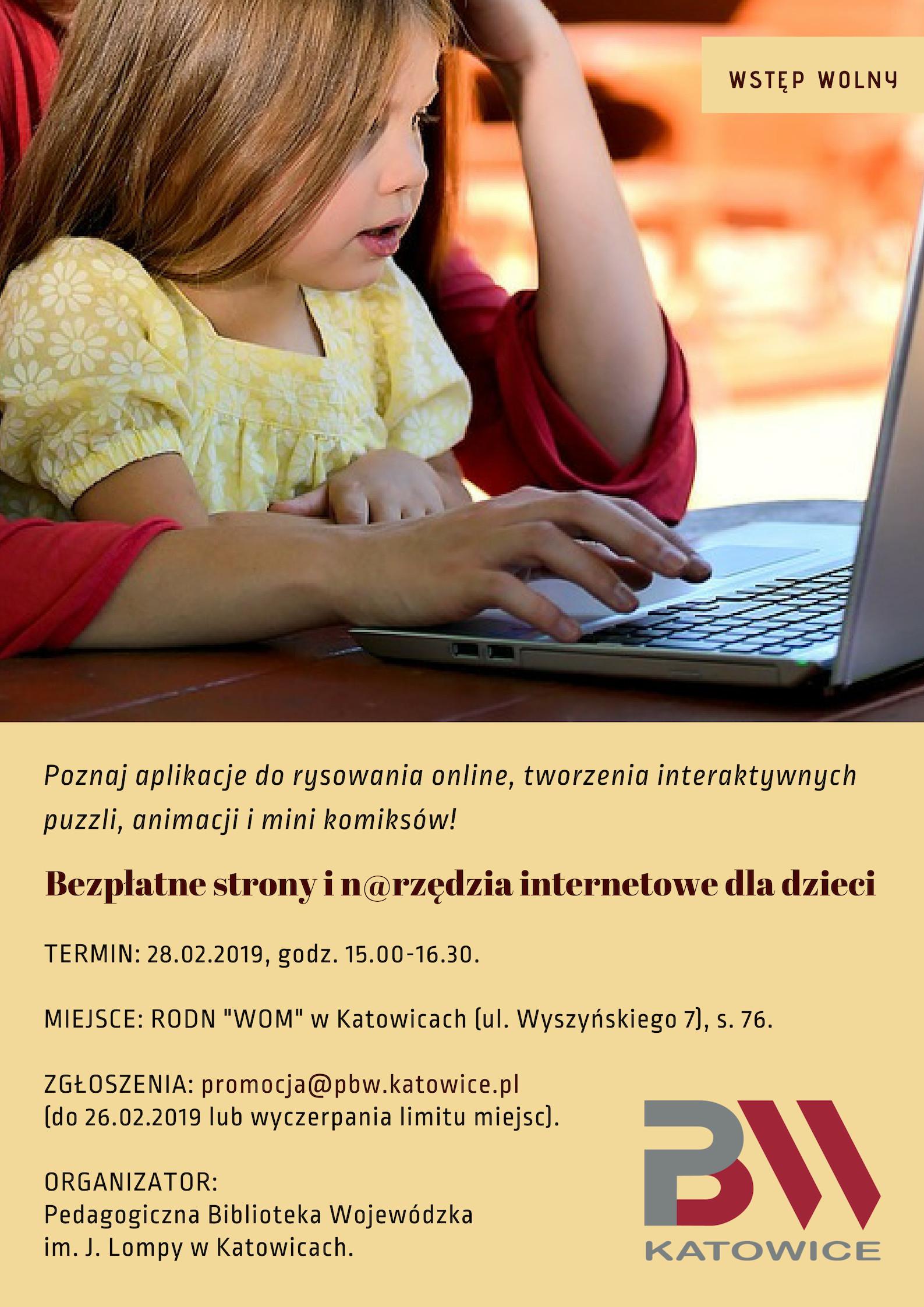 Warsztaty bezpłatne strony inarzędzia - plakat informacyjny