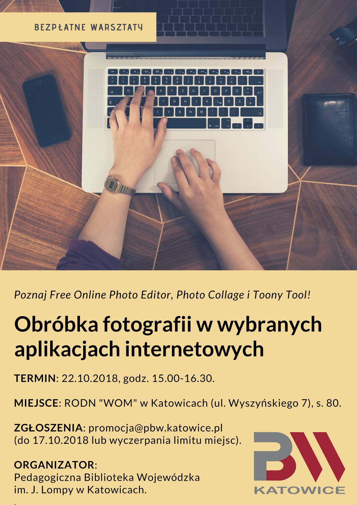 Obróbka fotografii - plakat informacyjny